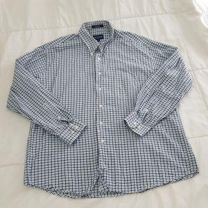 Alan Flusser Casual Shirt Mens XXL Blue Black